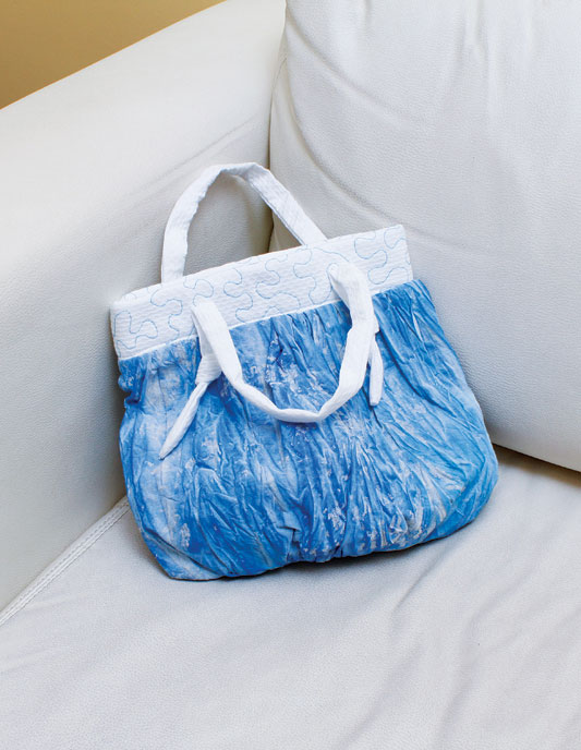 Crie essa exclusiva bolsa balonê a partir de tecidos tingidos