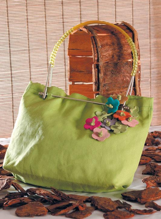 Bolsa de lonita verde