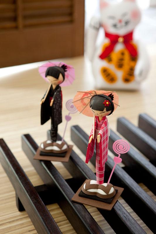 Bonecas japonesas de EVA