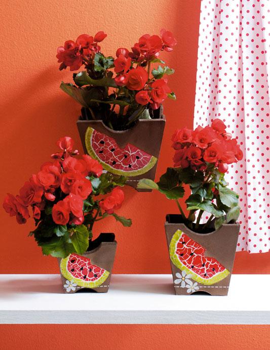 Cachepôs de melancia