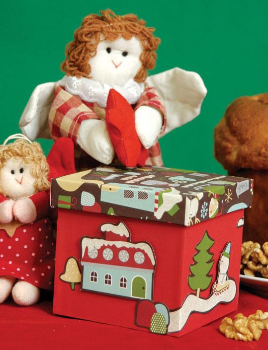 Caixa de cartonagem natalina