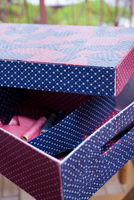 Caixa porta-treco de patchwork