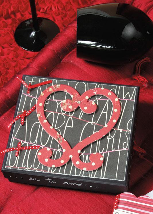 Caixa de scrap para namorados