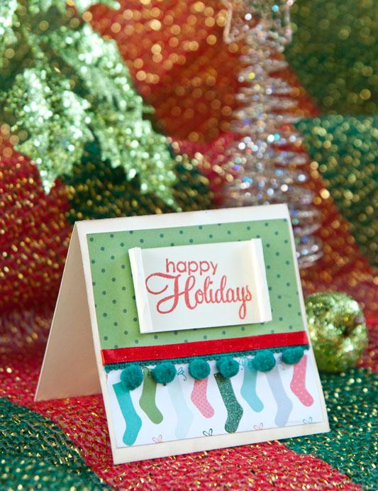 Cartão de Natal de scrapbooking 2