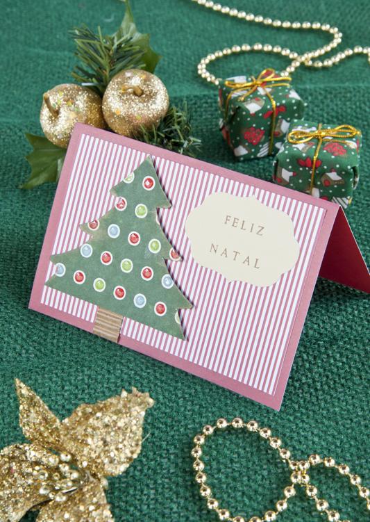 Cartão de Natal personalizado de scrapbooking