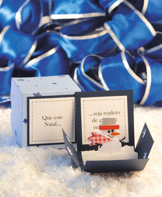 Cartão natalino de scrapbooking