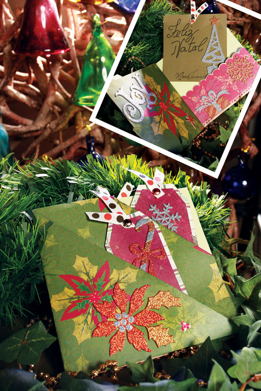 Cartão de Natal de scrapbooking