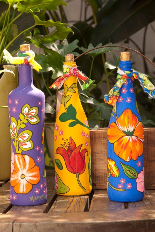 Garrafas decoradas com pintura 2