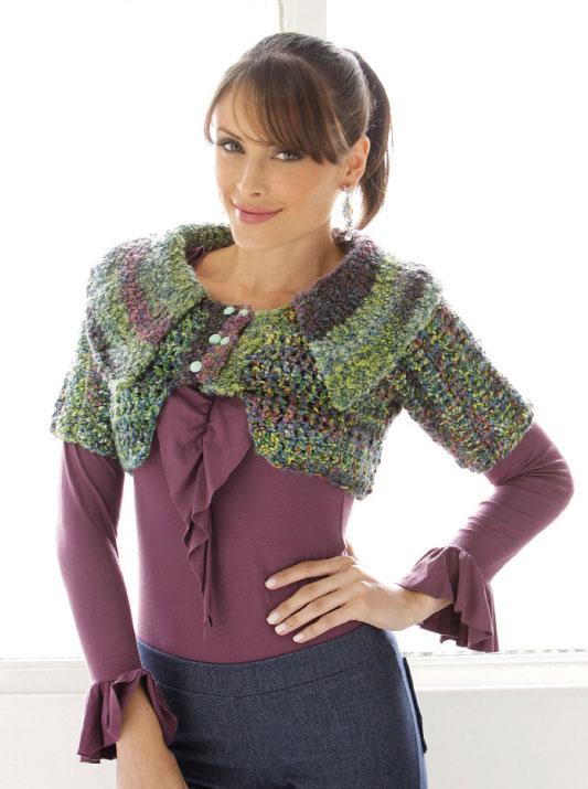 Blusa cobre ombros de crochê