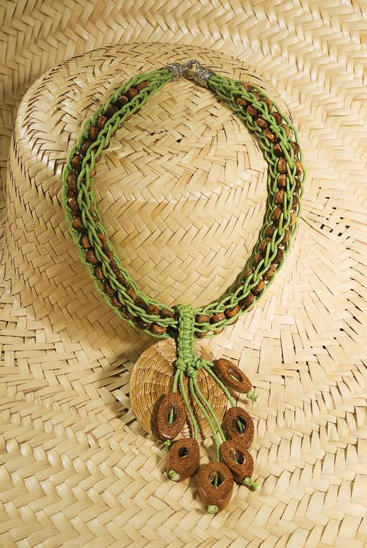 Enfeite para chapéu de praia