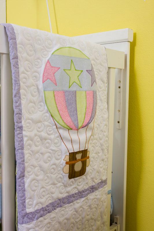 Colcha de patch com motivo de balão