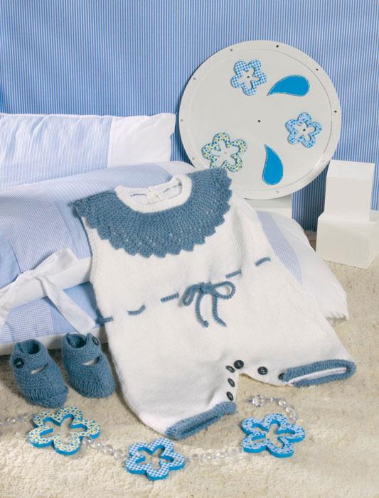 Kit de tricô para o bebê