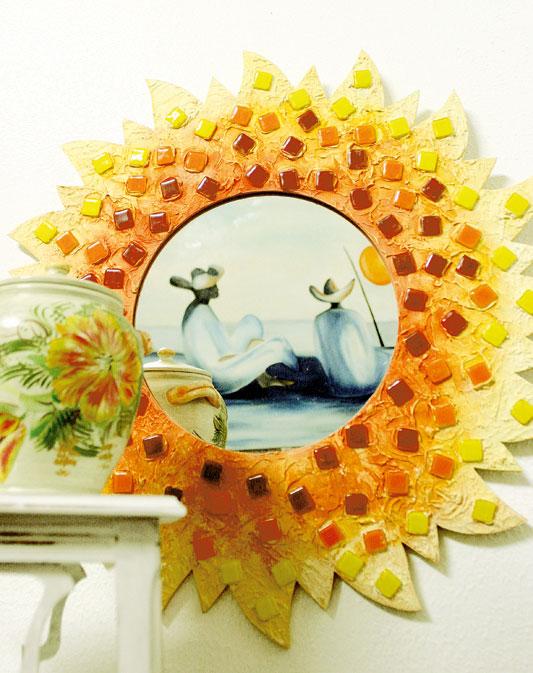 Espelho com mosaico