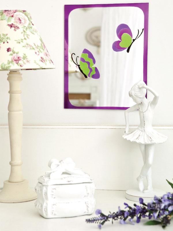 Espelho decorado com aerografia