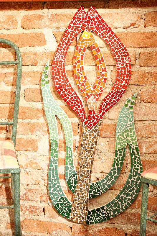 Artesanato com mosaico direto