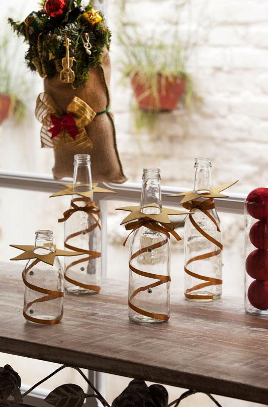 Recicle garrafas de vidro