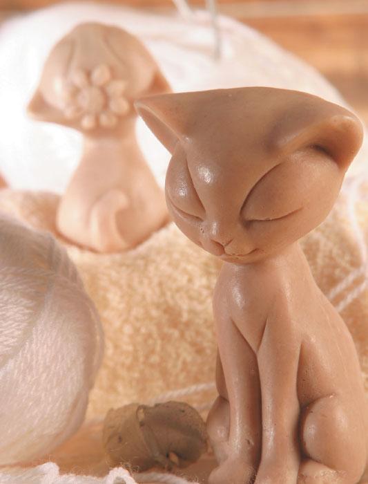 Sabonete em formato de gatinho