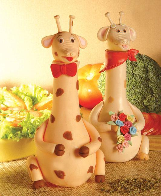 Girafinhas de biscuit