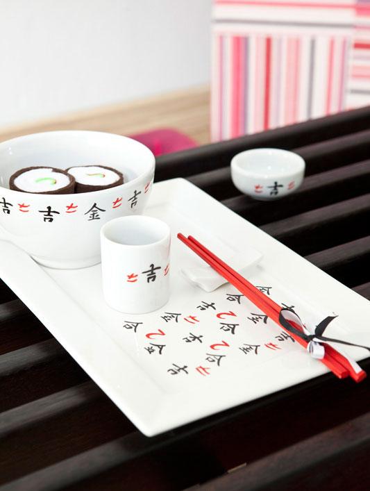 Jogo japonês de porcelana