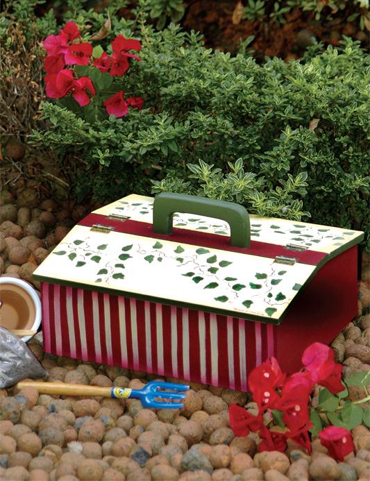 Maleta de ferramentas para jardinagem