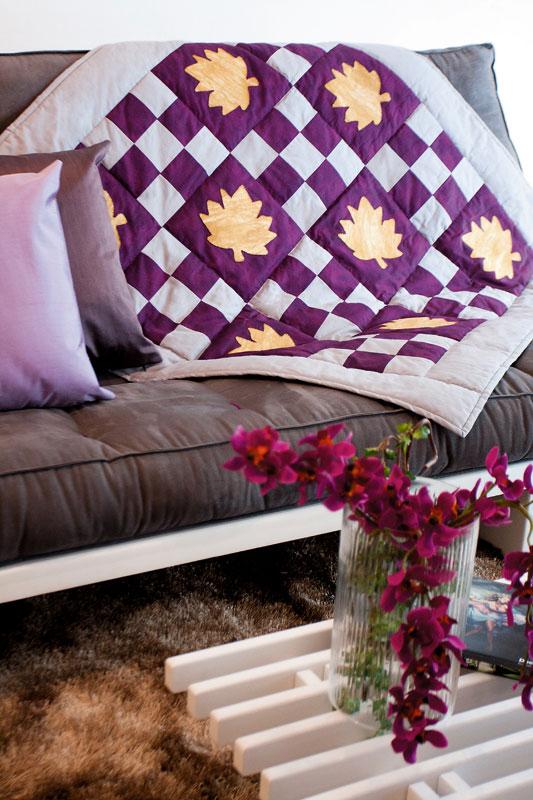 Manta de sofá de patchwork