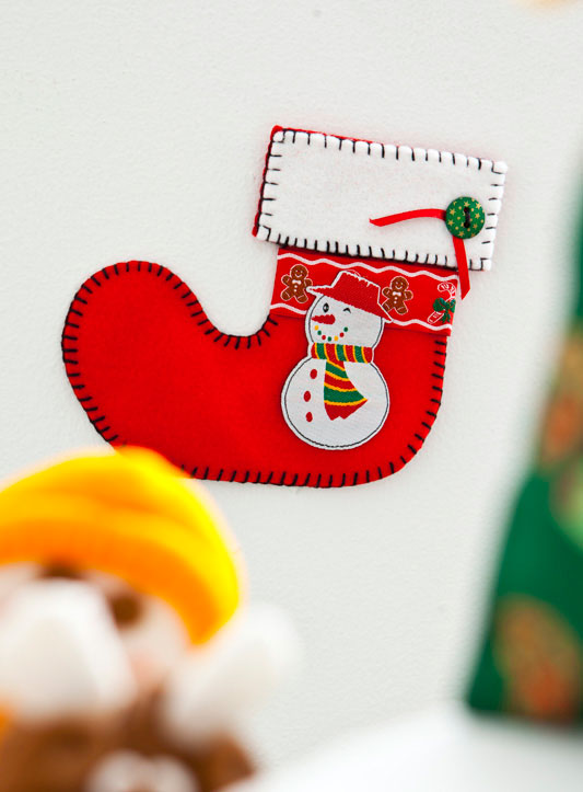 Garanta presentes com a bota do Papai Noel em feltro