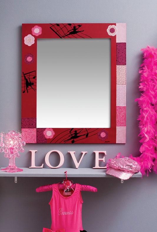 Moldura de espelho com patch décor