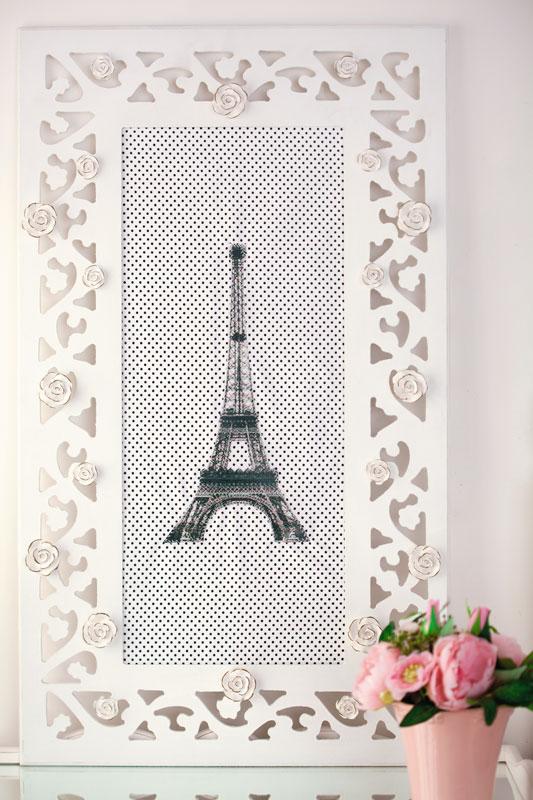Painel de recados inspirado em Paris