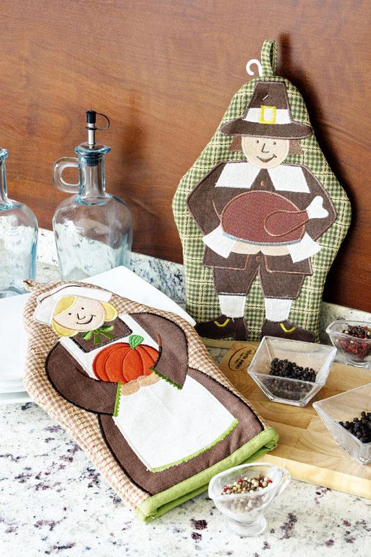Luva de cozinha de patchwork