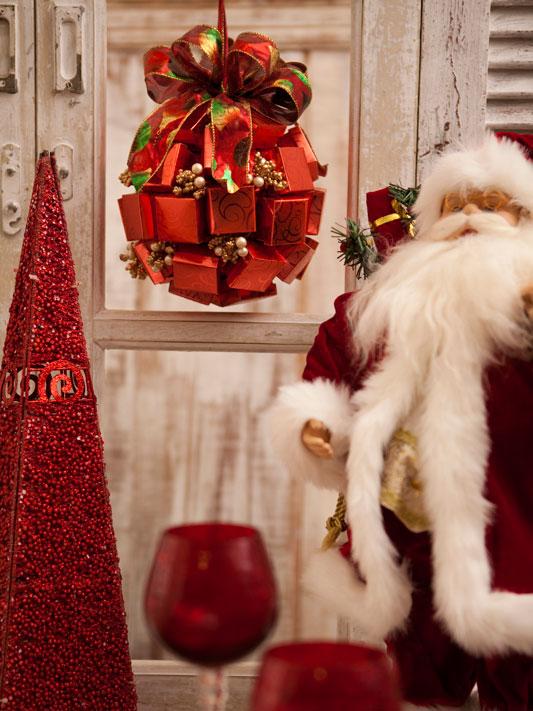 Pendente natalino com caixinhas de bombons