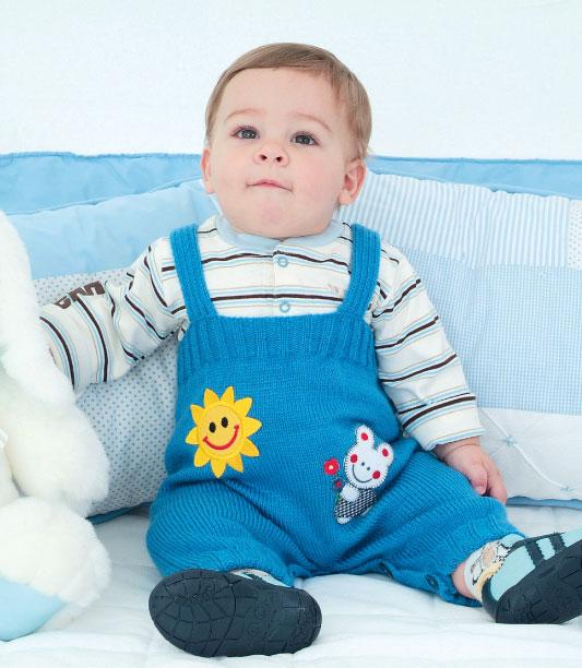 Macaquinho azul em tricô