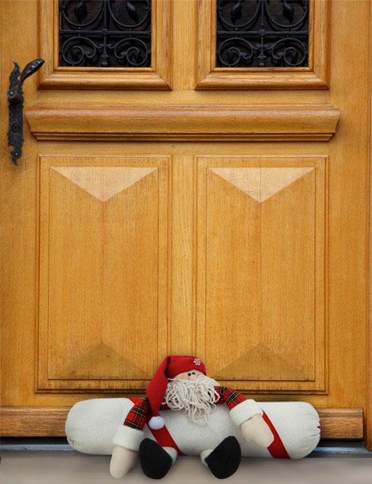 Peso de porta com boneco de Papai Noel