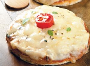Pizza cremosa de milho