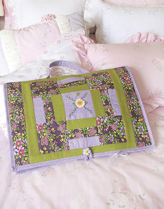 Porta-lingerie de patchwork