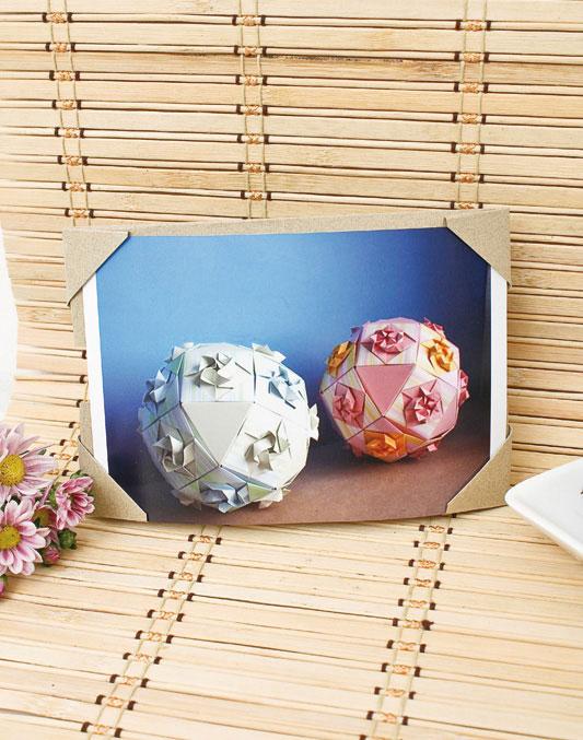 Moldura de origami para porta-retrato