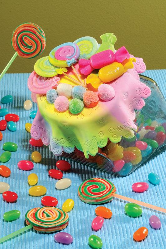 Baleiro colorido de biscuit