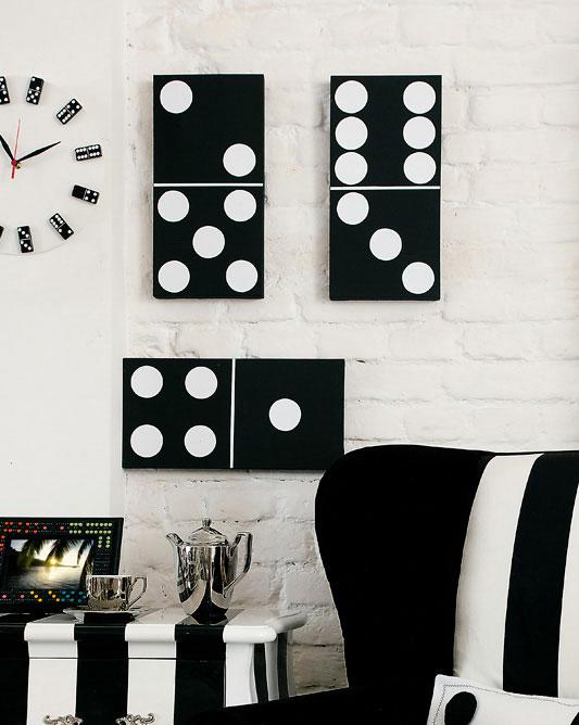 Quadro em formato de dominó