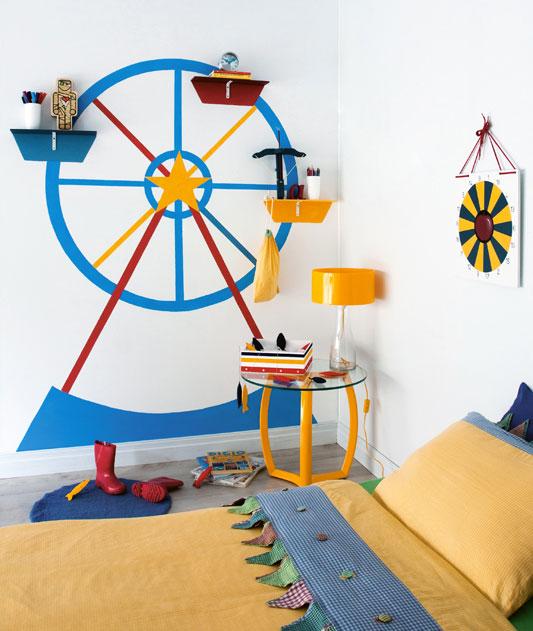 Pintura em parede de roda gigante