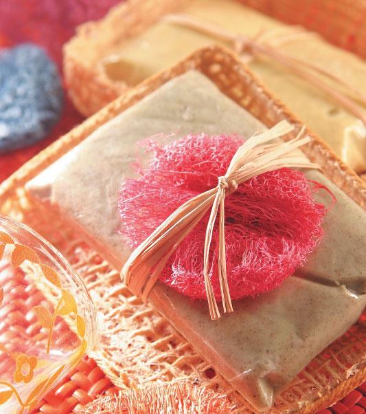 Sabonete esfoliante com essência de chocolate
