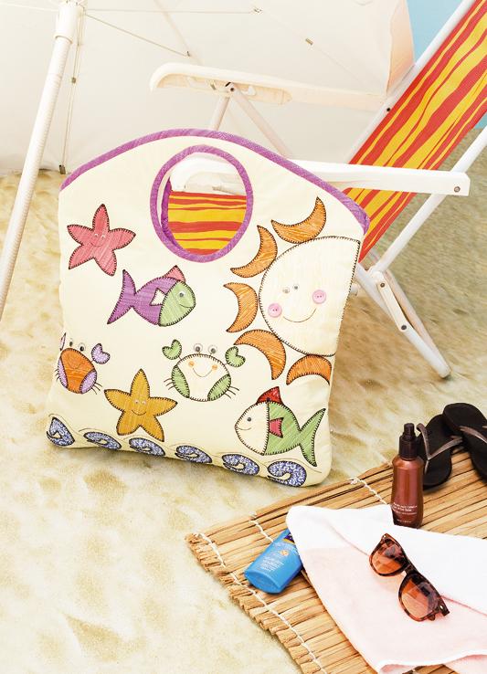Bolsa de praia com patch apliquê