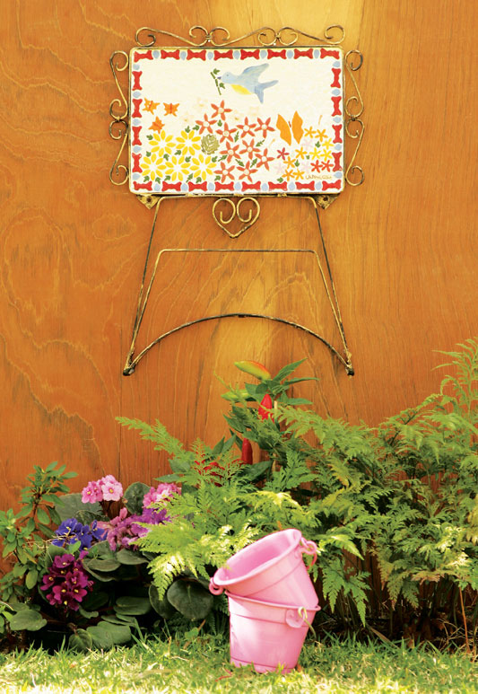 Suporte de mosaico para mangueira