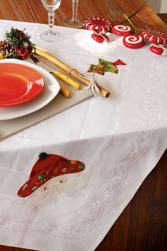 Toalha natalina de patch apliquê