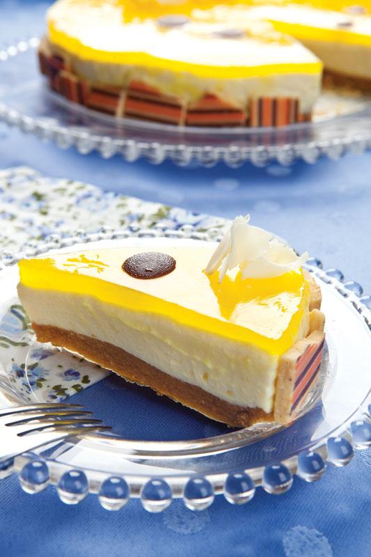 Torta de maracujá com chocolate branco