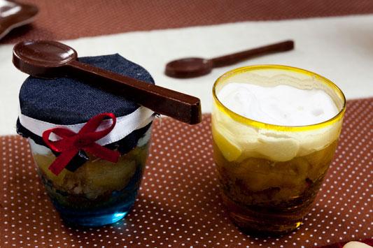 Trifles de iogurte e chocolate