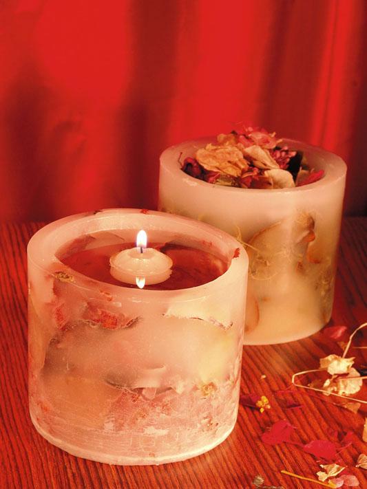 Energize o lar com velas artesanais de flores e frutas secas