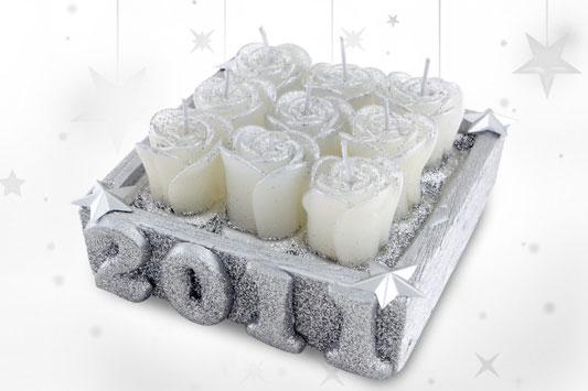 Vela comemorativa de Ano-novo