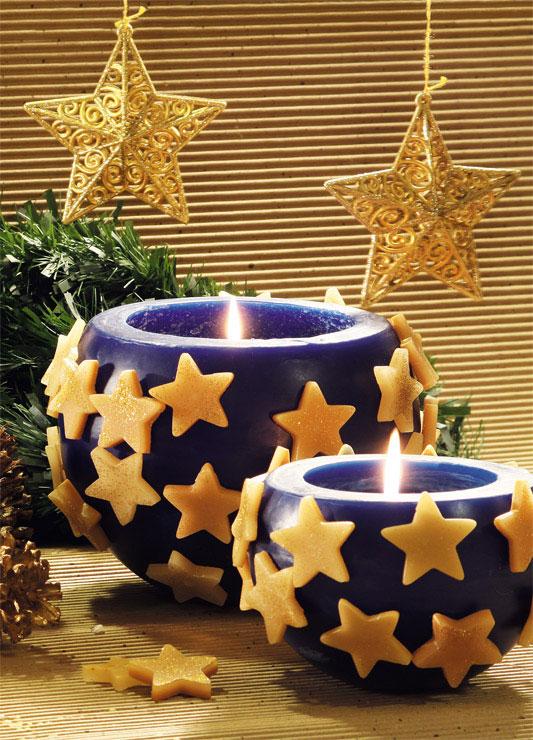 Vela cachepô de Natal