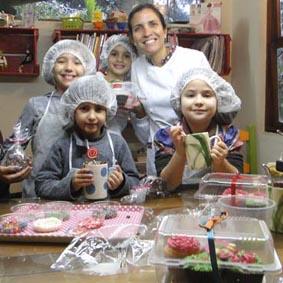 Cupcakes feitos por crianças