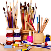 """Workshop de pintura com """"mago da espátula"""", no Lurdinha Perina Atelier"""