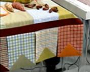 Veja como fazer uma toalha de Festa Junina de patchwork